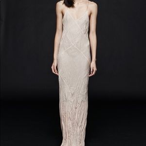 Titania Inglis Long Plunge Dress (blush)